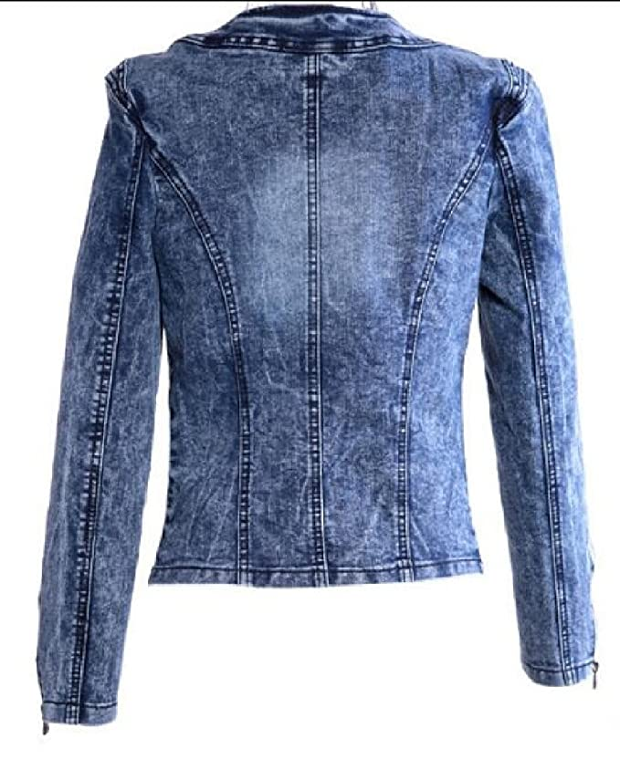 9f483439475678 Hokny TD Women s Retro Rhinestone Sequins Open Front Short Denim Jacket at  Amazon Women s Coats Shop