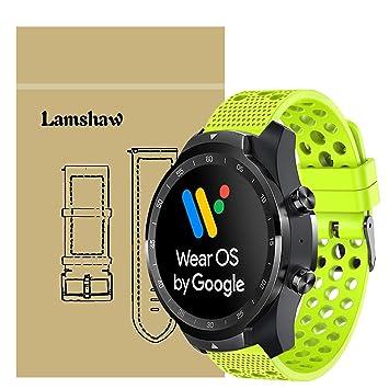 Ceston Clásico Deporte Silicona Correas para Smartwatch TicWatch Pro (Verde)