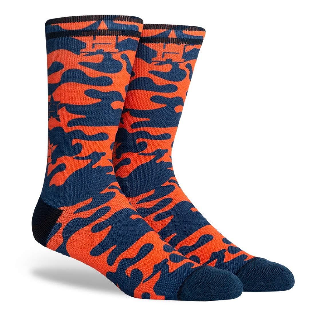 PKWY Unisex 3-Pack MLB Houston Astros Crew Socks