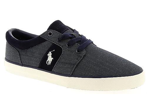 C2060 sneaker uomo POLO RALPH LAUREN HALMOREII-NE scarpa blu denim shoe man [43 EU] q6XcHV