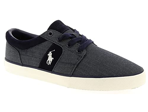 C2060 sneaker uomo POLO RALPH LAUREN HALMOREII-NE scarpa blu denim ...
