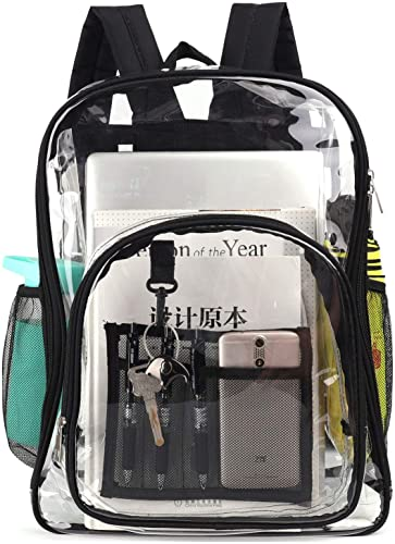 X charmer Clear Backpack,Heavy Duty Clear Backpack,Transparent Large Bookbag for College