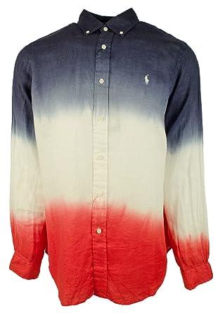 56842a3e Ralph Lauren Men's Ombre Long Sleeve Shirt at Amazon Men's Clothing ...