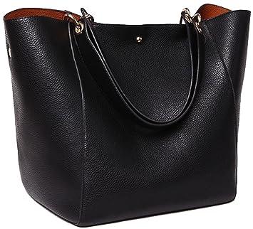 ec9745c671228 Henkeltaschen Taschen Damen Leder Schwarz 2018 SQLP Neu Elegant Große  Handtasche Europäische Stil Schultertaschen Umhängetasche Shopper