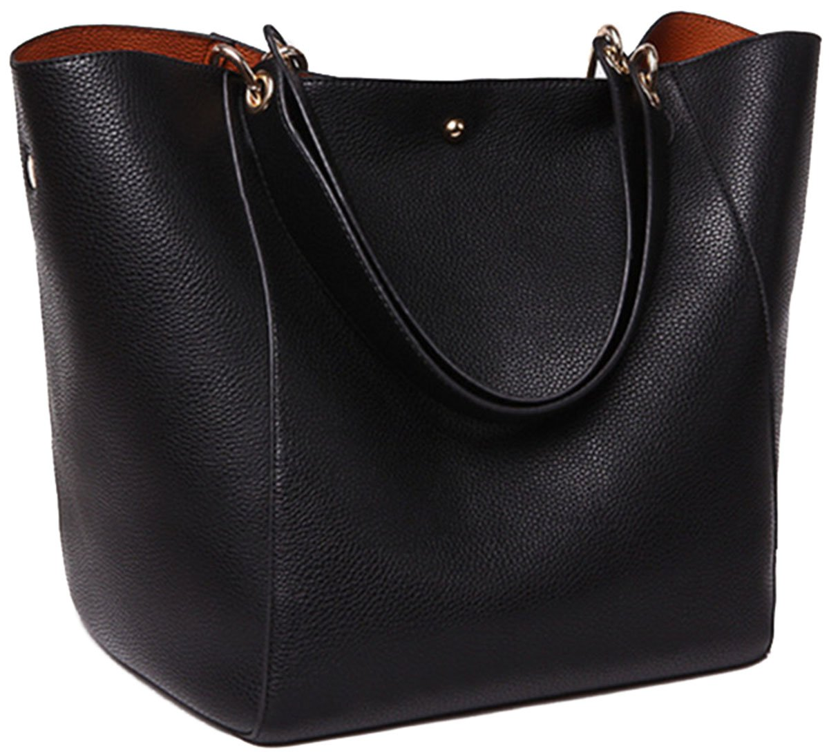 SQLP Work Tote Bags for Women's Leather Purse and handbags ladies Waterproof Shoulder Bag Black