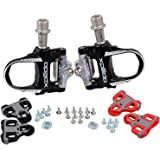 Xpedo Road Bike Sealed Magenium Pedals Look Keo Compatible with 2 Sets of Cleats