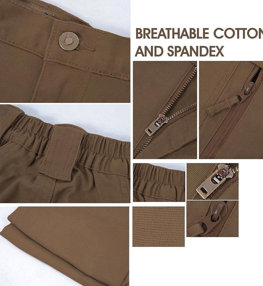 resistentes a los ara/ñazos para exteriores MAGCOMSEN Pantalones t/ácticos ligeros para hombre