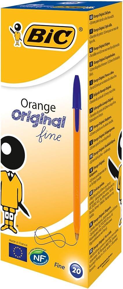 BIC Orange Original Fine bolígrafos punta fina (0,8 mm) - Azul ...