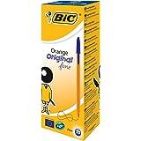 BIC Orange Original Fine - Pack de 20 bolígrafos, tinta azul