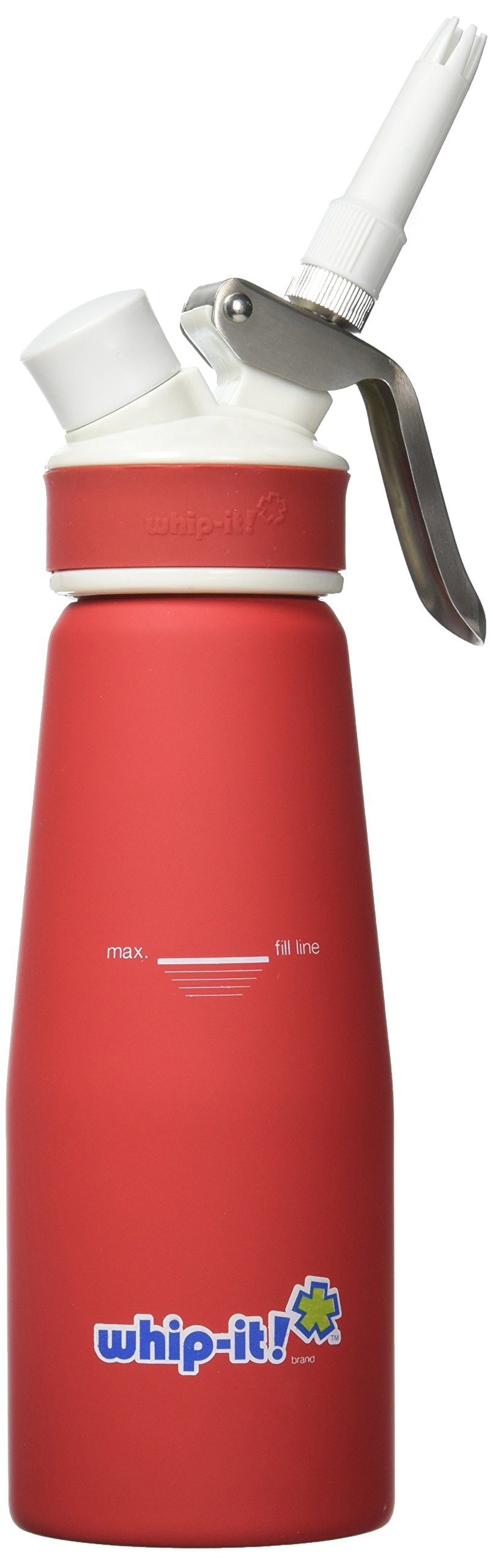 Whip-it! Pro Whipped Cream Dispenser 1/2L Rubber Coated, Red