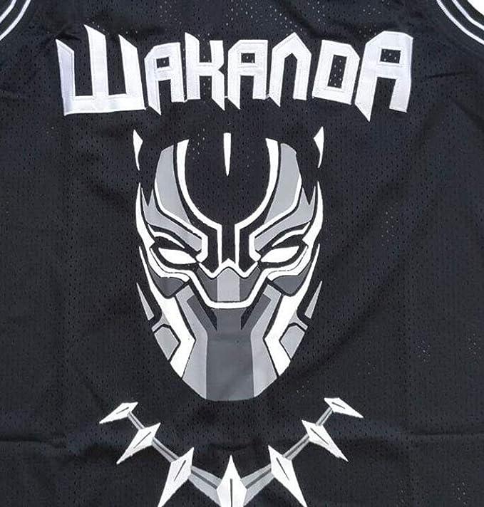 f4b00e1c25e Sports & Outdoors Kooy Black Panther Movie Wakanda T' Challa #1 Killmonger  #2 Basketball Jersey Stitched
