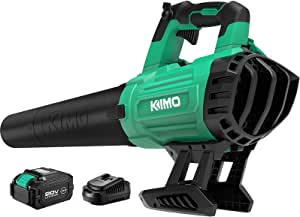 KIMO Cordless Leaf Blower, 20V 400CFM Handheld Cordless Blower Sweeper 4.0Ah Battery, Variable Speed for Sweeping Snow/Blowing Wet Leaf/Lighting Fire/Clearing Dust & Hard-to-Clean Corner/Garden/Lawn
