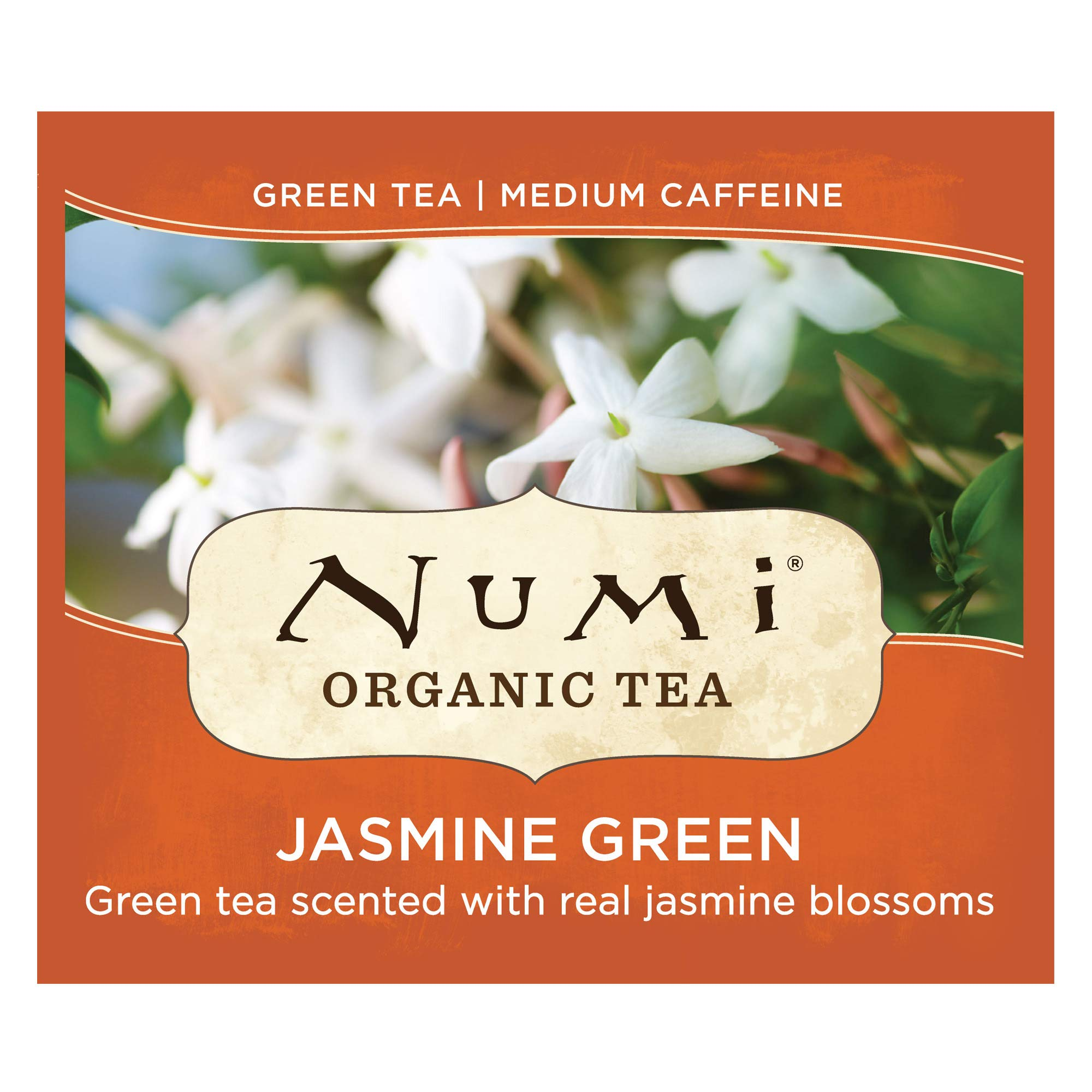 Numi Organic Tea Jasmine Green, 100 Count Box of Tea Bags (Packaging May Vary) by Numi