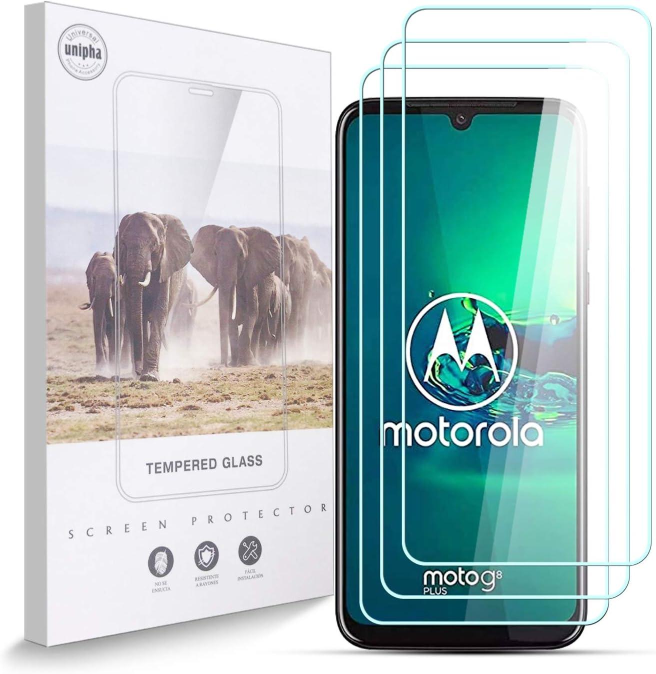 AYSOW Protector de Pantalla para Motorola One Vision Dual SIM, 9H, Antihuellas, Antiarañazos, Sin Burbujas, 0.33 mm, HD Cristal Vidrio Templado Compatible con Motorola One Vision Dual SIM, 3 Piezas