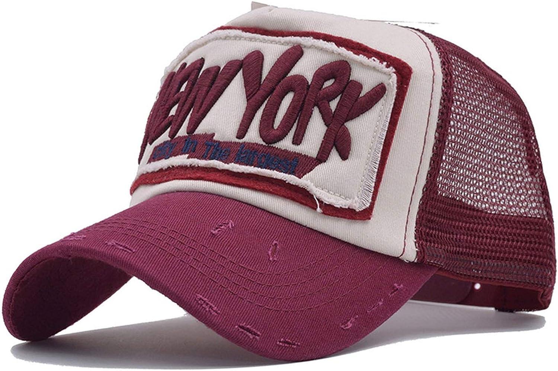 Mesh Snapback Hat Trucker Cap New York Baseball Cap Men Women Girls Boys Summer Mesh Cap
