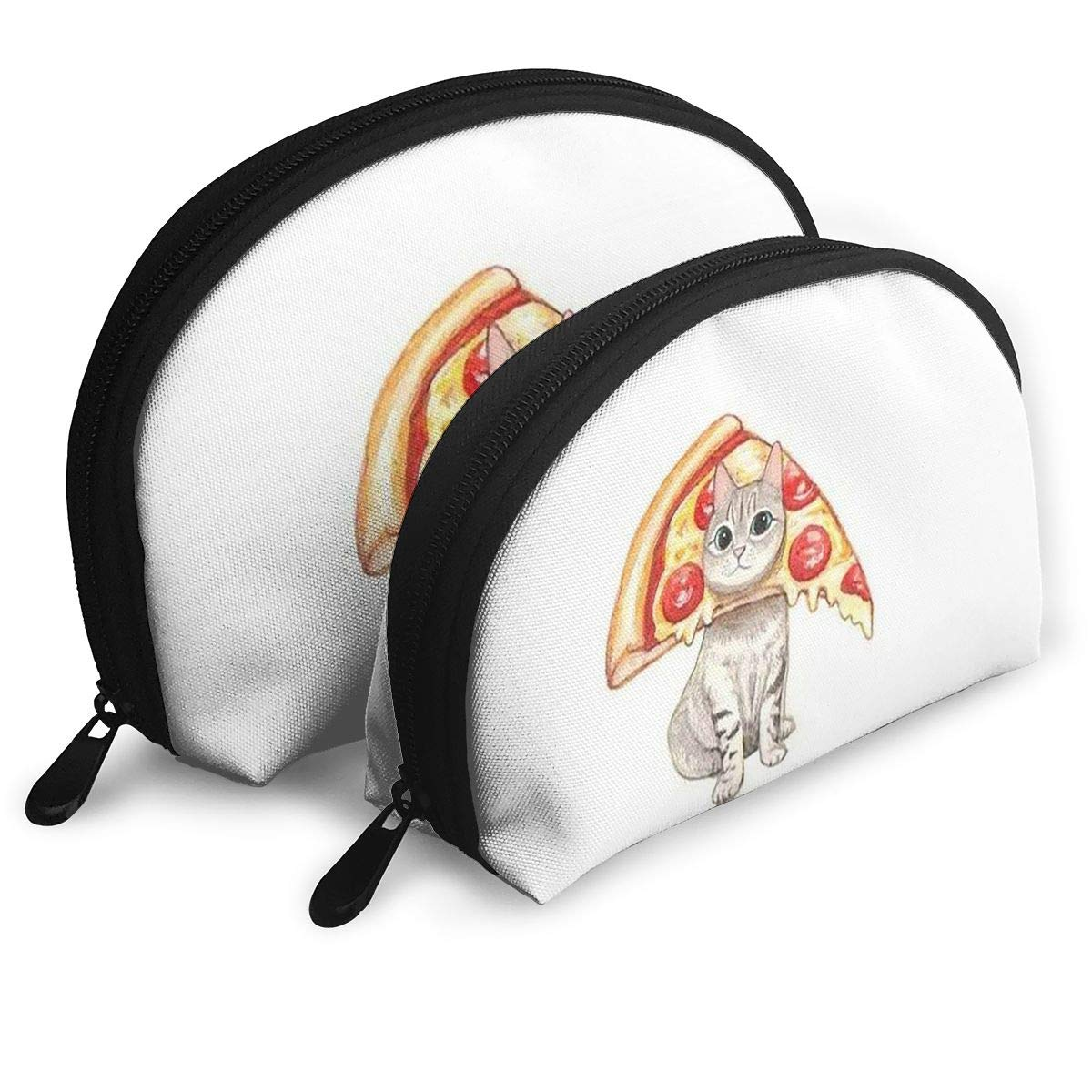 【美品】 Vyxiza 猫 ピザ 多機能 2ピース レディース シェルフィッシュ 多機能 B07KB7JT6H 猫 ポータブル 化粧品バッグ 収納バッグ B07KB7JT6H, 鍵の鉄人:4248cc6f --- garagegrands.com