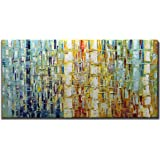 Tiancheng Art 24 x 48 Inch Abstract Art Painting 3D Oil Hand Painted on Canvas Wall Art Prints Framed Palette Knife Oil…