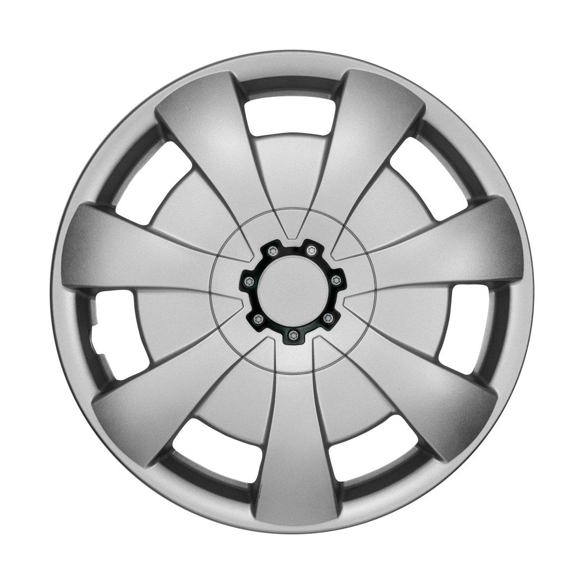 NRM Copricerchi Universali AXEL Silver 15 set 4 pezzi