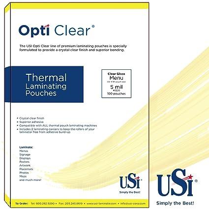 Opti - Bolsas térmicas para plastificar (tamaño del menú ...