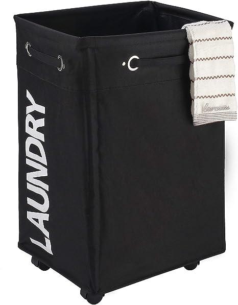 US Foldable Laundry Hamper Basket Dirty Clothes Storage Bag Washing Bin Home