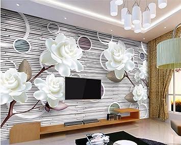 Wapel Benutzerdefiniertes Hintergrundbild Modern White Flower Art ...