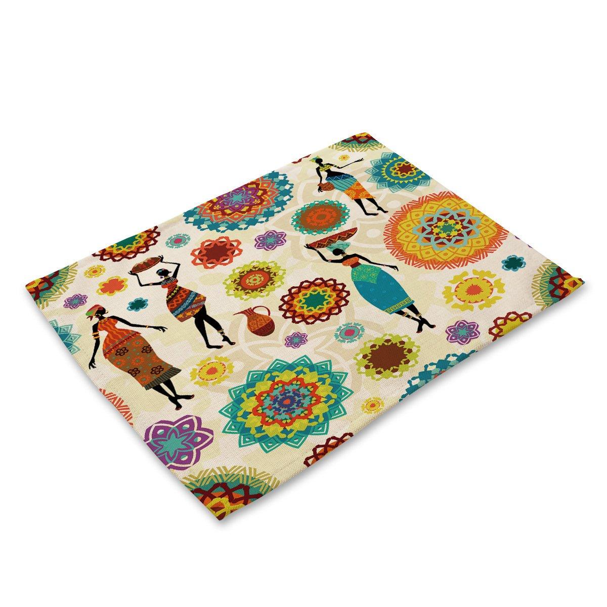 Compra Algodón y tela de lino aislamiento colchón nacional de caracteres de viento de impresión Cotton tela de lino + tela de la comida occidental Alfombras ...