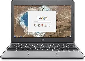 HP 11.6 Inch high performance Chromebook Laptop Computer, Intel Celeron N3060 Up to 2.48GHz, 4GB Memory, 16GB eMMC, WiFi 802.11ac, USB 3.1, Bluetooth, Webcam, Chrome OS (Renewed)