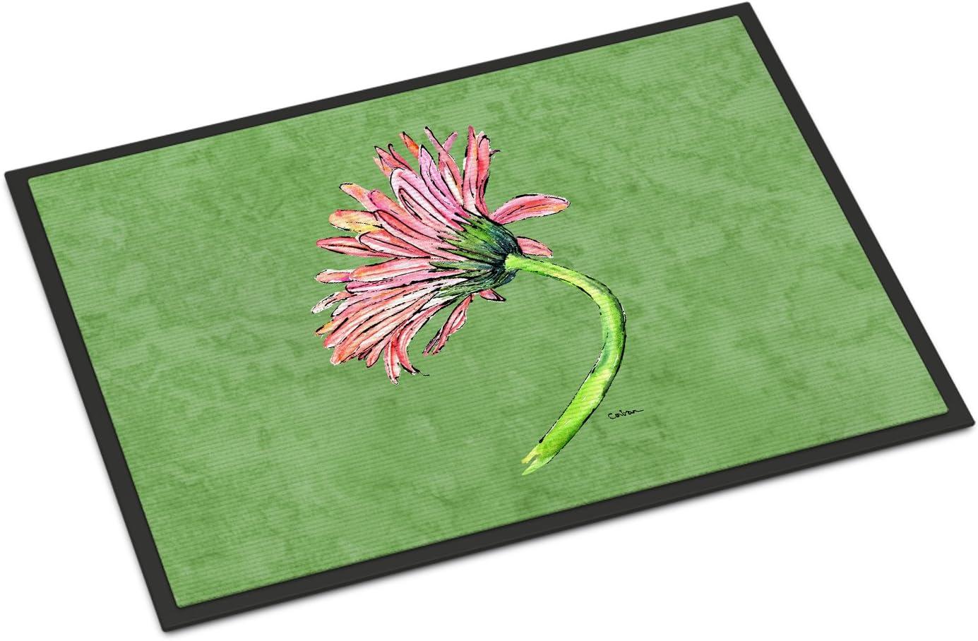 Caroline s Treasures 8853JMAT Gerber Daisy Pink Indoor or Outdoor Mat 24×36 Doormat, 24H X 36W, Multicolor
