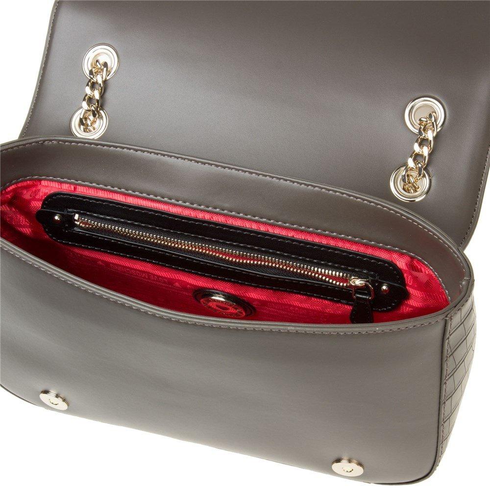 Love Moschino Chain Heart Womens Handbag Grey by Love Moschino (Image #4)