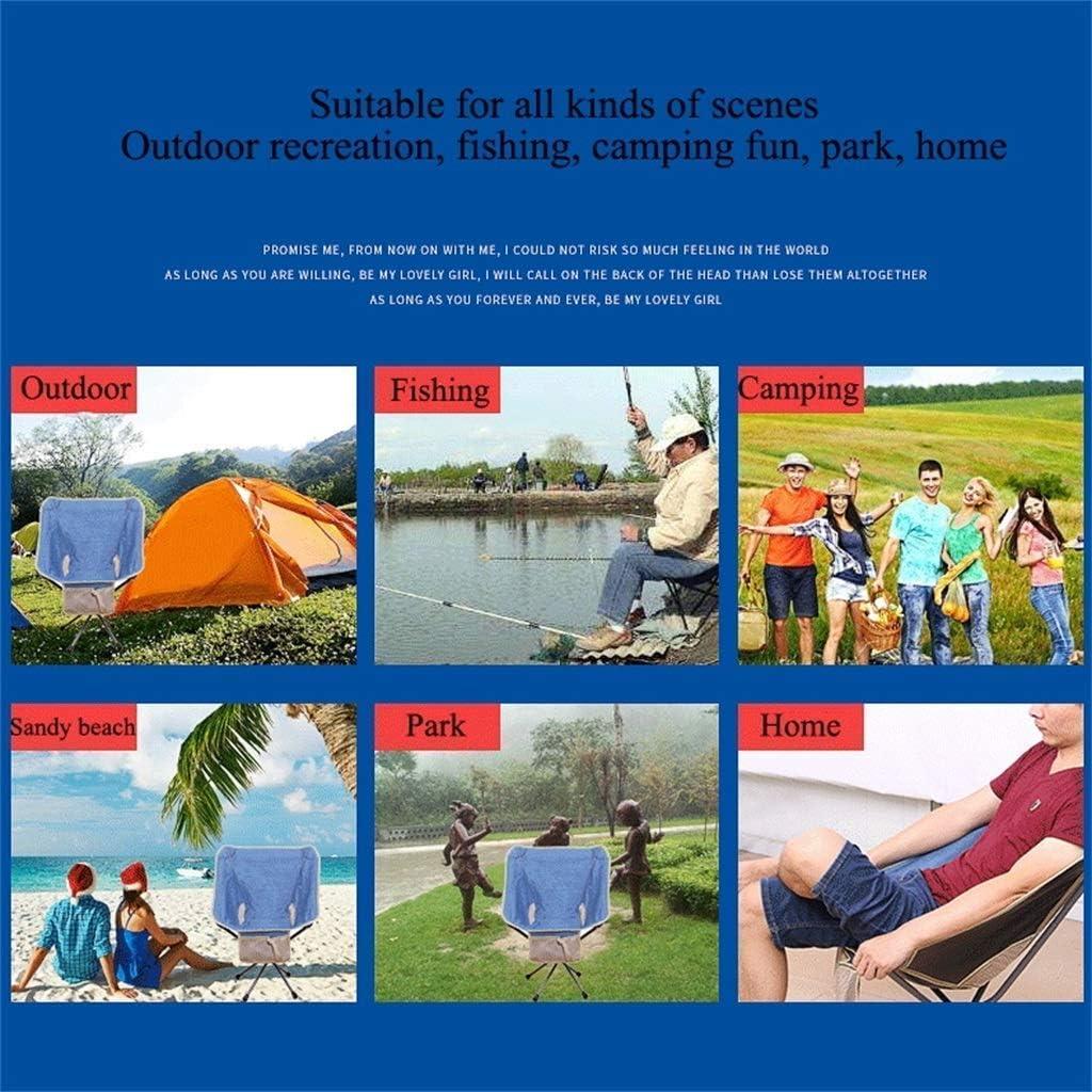 lyf Tragbarer Klappstuhl im Freien, superleichter multifunktionaler Mondstuhl-Direktor Sketching Lazy Beach Fishing Hiking Camping Chair Blue
