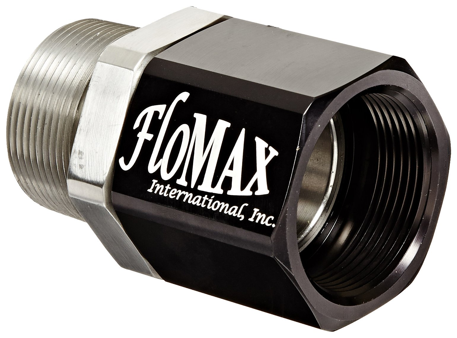 Dixon FNS Black Stainless Steel Dry Disconnect Fitting, Flomax Diesel Fuel Standard Swivel, 1-1/2'' NPT Male x 1-1/2'' NPT Female