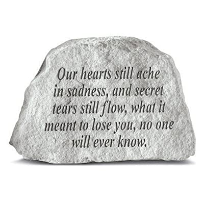 Kay Berry 78120 Our Hearts Still Ache… Memorial Garden Stone, Multicolor: Home & Kitchen