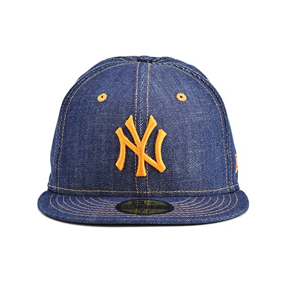 732dfe16d4a5c Amazon.co.jp: (ニューエラ) NEW ERA キャップ 59FIFTY デニム MLB ニューヨークヤンキース ネイビー:  スポーツ&アウトドア