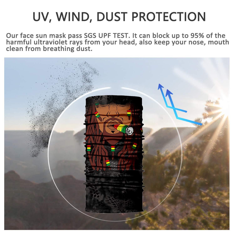 Neck Gaiter,Magic Scarf,Dust and Sun Mask,Outdoor UV Resistence Sport Headwear,Bicycle Riding Mask,Elastic Seamless Bandana Scarf Great Men /& Women CACASO 3D Face Sun Mask