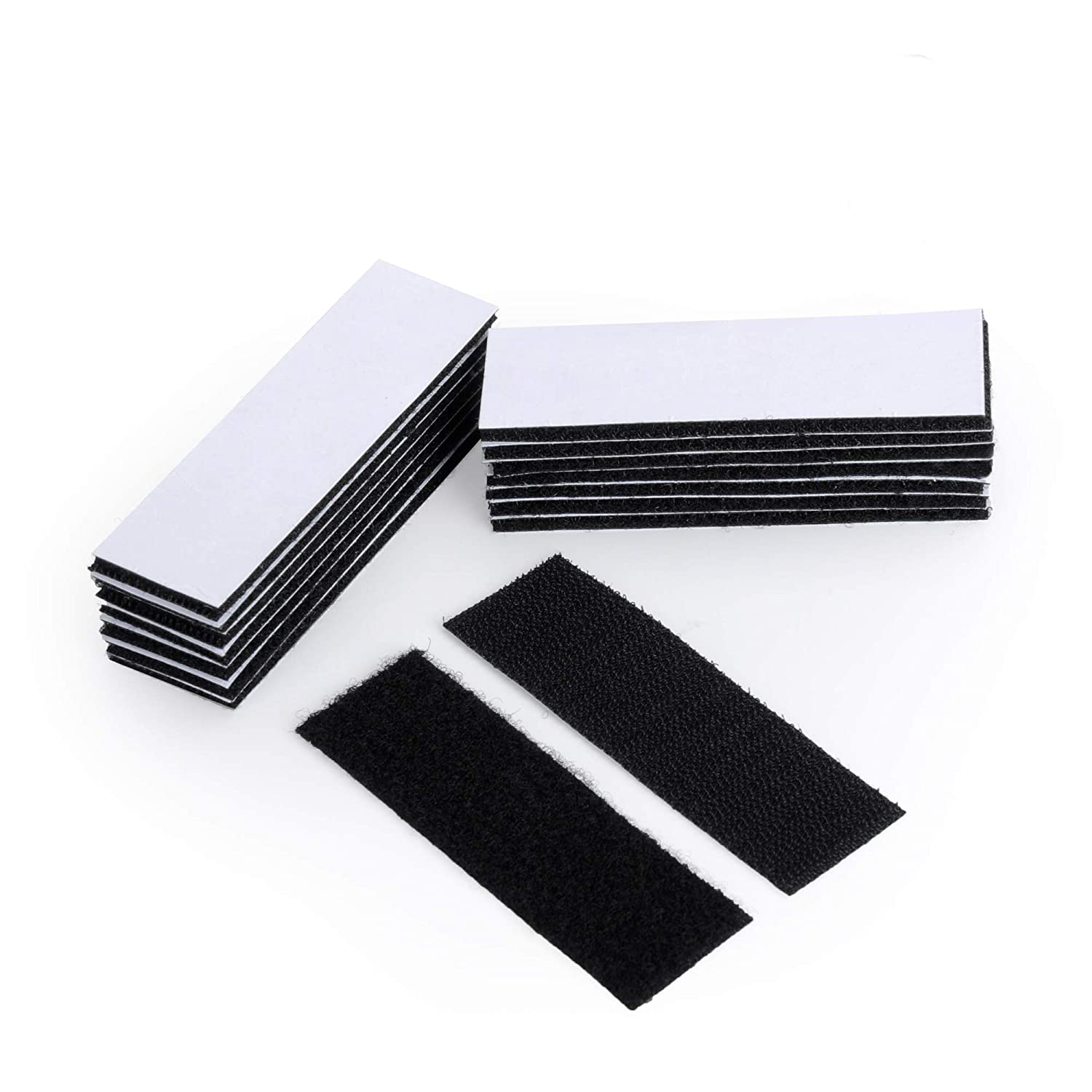 12 Pack Heavy Duty Picture Hanging Strips Double Sided Sticky Back Pads for Rug Carpet Mat Gripping /& Tool Mounting 1.2x4Inch White Strong Adhesive BRAVESHINE Hook and Loop Tape