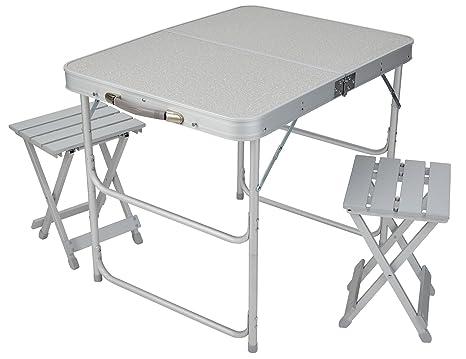 Valigia tavolo set da campeggio tavolo pieghevole e sgabello