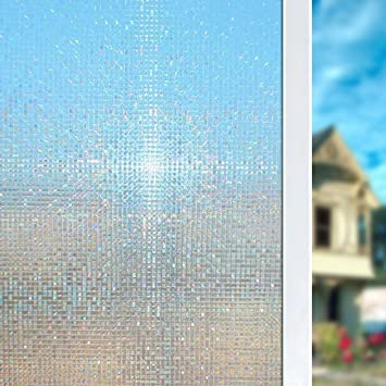 Superbe 3D No Glue Illuminative Scenic Privacy Window Film, Glass Door Stickers/Window  Protection/