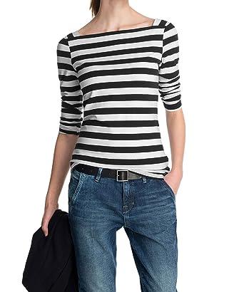 1a5a4a5b2661d5 ESPRIT Damen T-Shirt Jersey Streifen Shirt