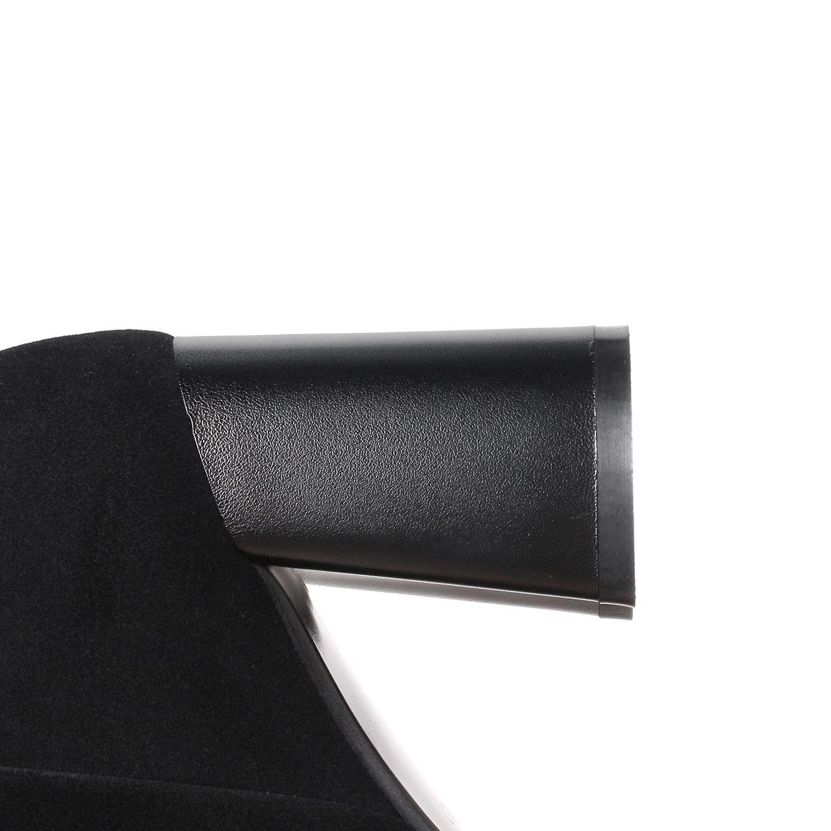 RBC Damen Kurze Stiefel Martin Chunky Chunky Martin High Heel Schuhe Runde Kopf Strappy Scrub Side Reißverschluss Freizeit Pumps Grün Schwarz Herbst Frühling Winter Party Karriere Prom, EUR 39  UK 5 5da2b8