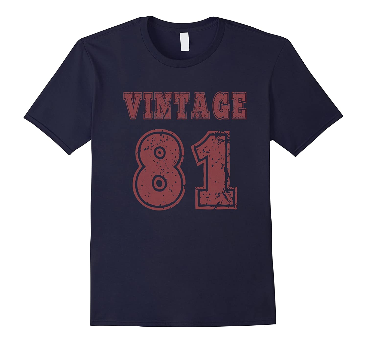 1981 Vintage Birthday Gift T-shirt For Men Women-TH