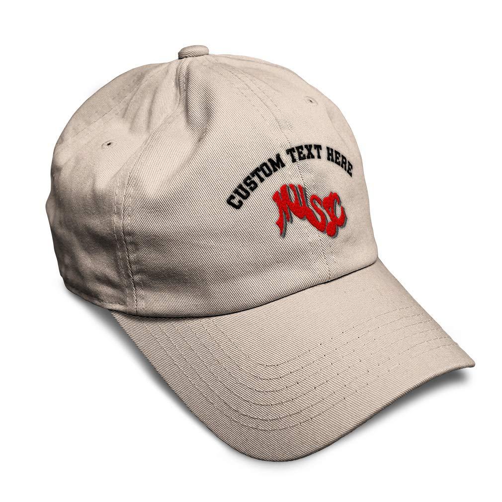 Custom Soft Baseball Cap Music Embroidery Twill Cotton Dad Hats for Men /& Women