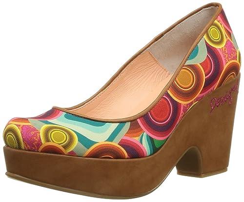 De Zapatos Pump Mujer Desigual Tela Vestir Alto Para Bloque 3 1FX1wnqSU