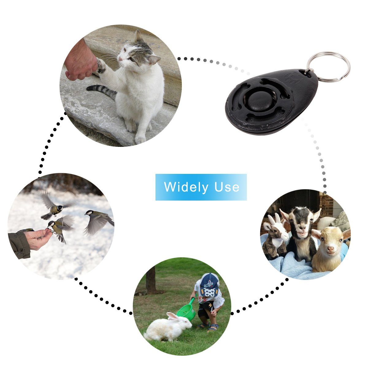 Diyife Training Clicker with Wrist Strap for Dog Cat Horse. 4 PCS, Multi-Color Dog Clicker,