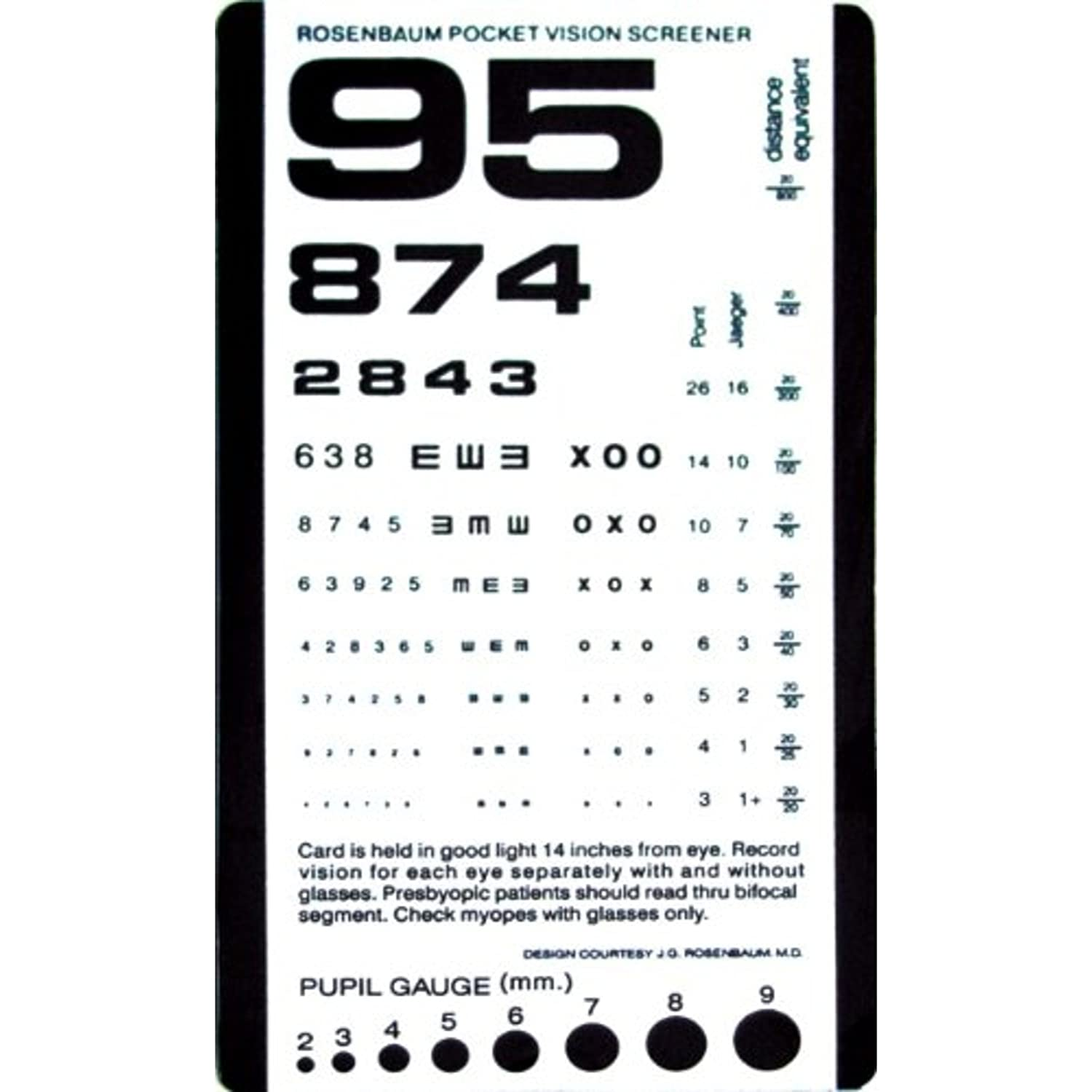 Amazon eye charts pocket eye test chart nvjuhfo Image collections