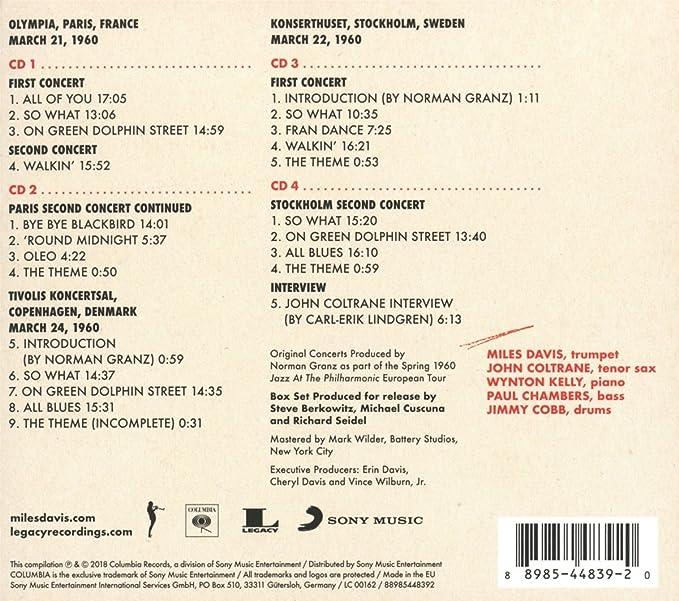 Miles Davis John Coltrane The Final Tour The Bootleg Series