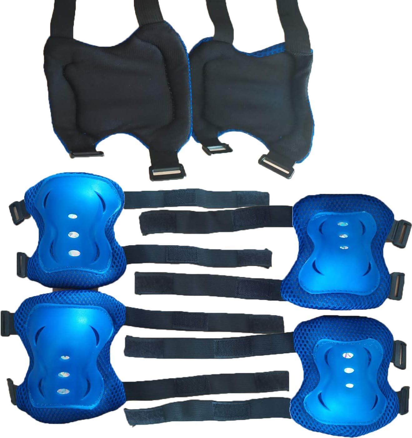 Skateboard Ice Roller Skating-Schutzausr/üstung Ellenbogenschutz Handgelenkschutz einen.Kreislauf.durchmachenreiten Kniesch/ützer for Kinder M/änner Frauen Knieschoner Kinder Set STAMONY 6pcs