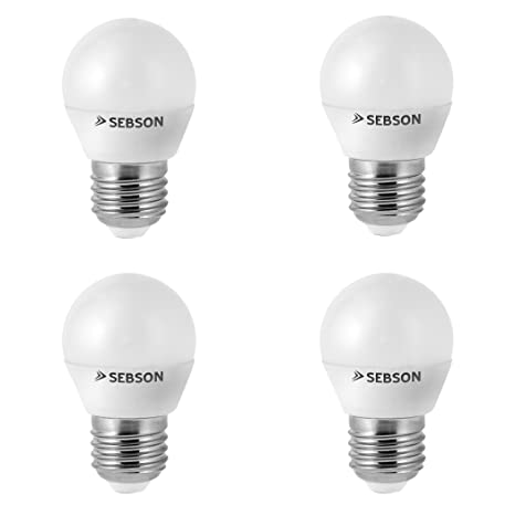 SEBSON® 4x RA95 + flicker free, E27 Bombilla LED 6W, Calido Blanca 2700K