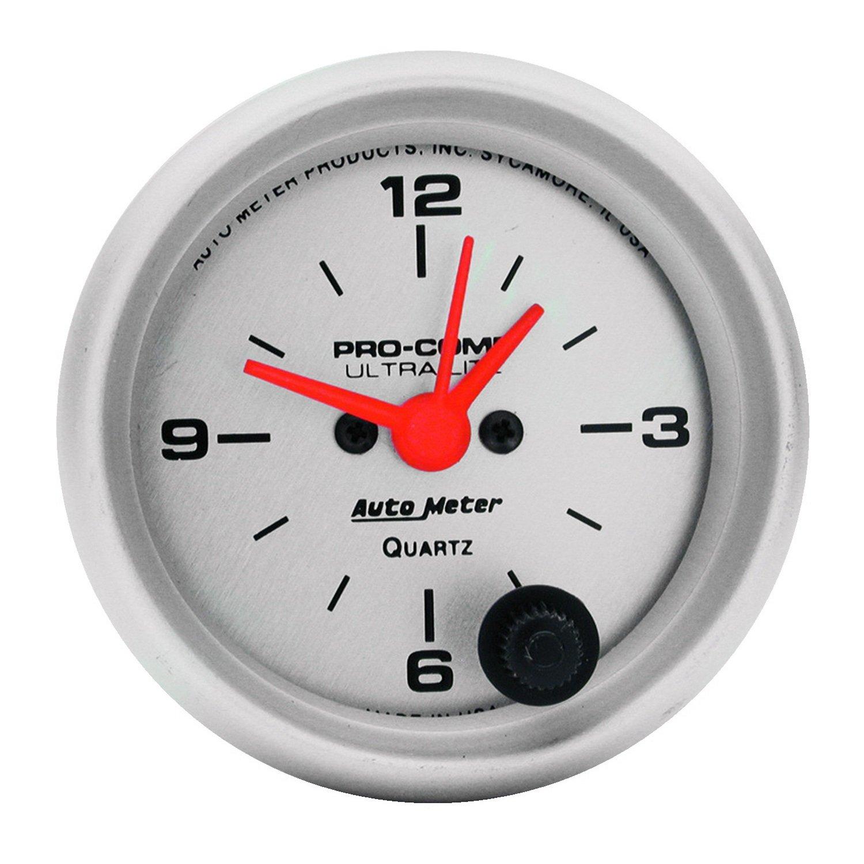 Auto Meter 4385 Ultra-Lite 2-1/16' 12 Volt Short Sweep Electric Clock Gauge