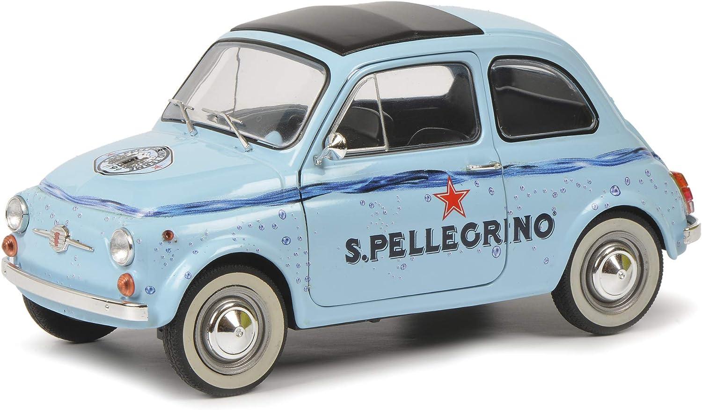 1:18 1965 Modellauto Solido S1801406 FIAT 500 S.PELLEGRINO blau Bj