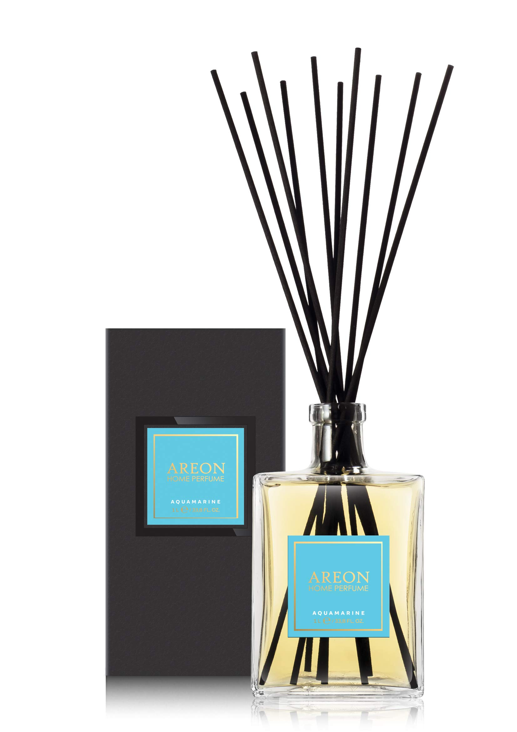 Areon Home Perfume Sticks - 1 Liter (34 OZ) Aquamarine by Areon (Image #1)
